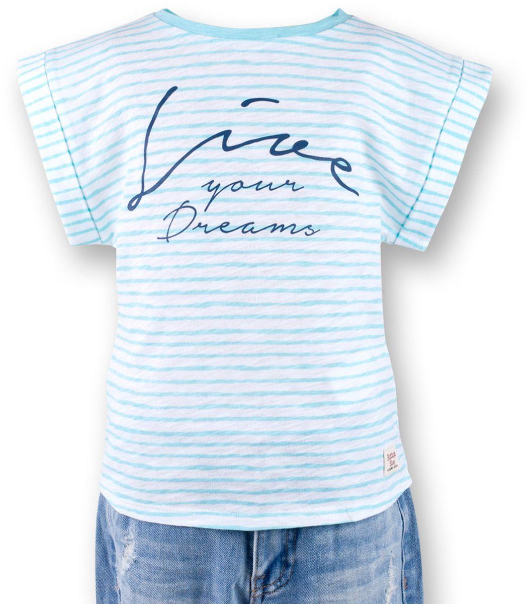 Футболка117BBGC12022605Полосатая футболка - не только базовая вещь в гардеробе ребенка, но и залог хорошего летнего настроения! Если вы решили купить футболку для девочки, выберете модель футболки в полоску с оригинальным принтом, и ваш ребенок будет доволен! Низкая цена не окажет влияния на бюджет семьи, позволив создать яркий базовый гардероб для долгожданных каникул!