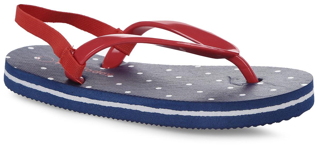 Шлепанцы172243Яркие шлепанцы от PlayToday изготовлены из резины. Ремешки с перемычкой гарантируют надежную фиксацию модели на ноге. Рельефное основание подошвы обеспечивает уверенное сцепление с любой поверхностью. Удобные шлепанцы прекрасно подойдут для похода в бассейн или на пляж.