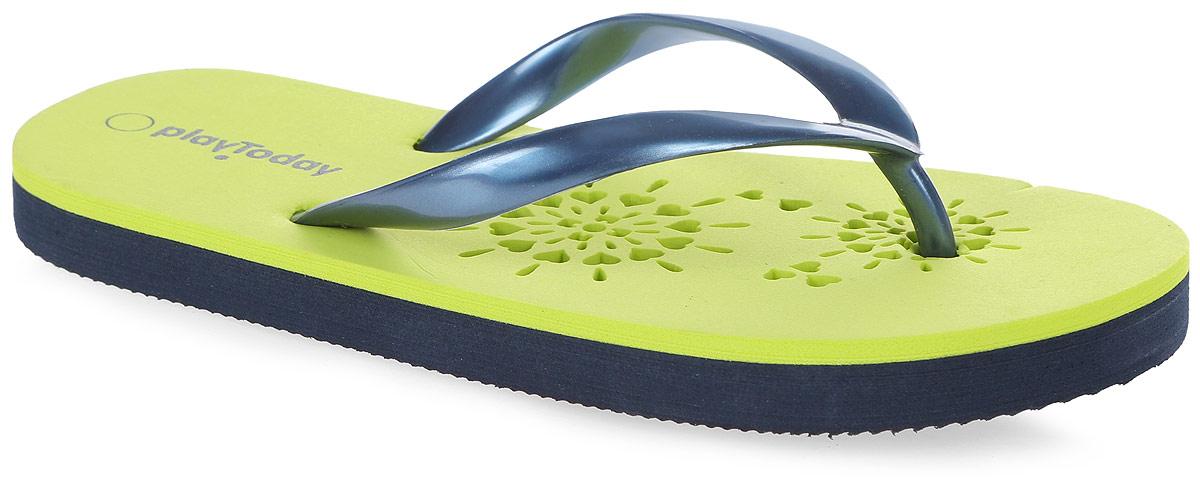 Шлепанцы172242Яркие шлепанцы от PlayToday изготовлены из резины. Ремешки с перемычкой гарантируют надежную фиксацию модели на ноге. Рельефное основание подошвы обеспечивает уверенное сцепление с любой поверхностью. Удобные шлепанцы прекрасно подойдут для похода в бассейн или на пляж.