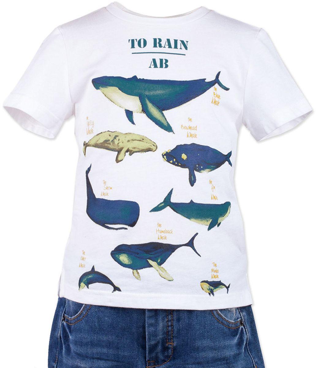 Футболка117BBBC12020200Белая футболка - не только базовая вещь в гардеробе ребенка, но и залог хорошего летнего настроения! Если вы решили купить недорогую белую футболку для мальчика, выберете модель футболки с оригинальным принтом, и ваш ребенок будет доволен! Низкая цена не окажет влияния на бюджет семьи, позволив создать яркий базовый гардероб для долгожданных каникул!
