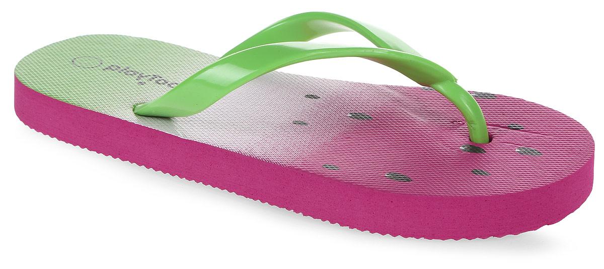 Шлепанцы172205Яркие шлепанцы от PlayToday изготовлены из резины. Ремешки с перемычкой гарантируют надежную фиксацию модели на ноге. Рифление на верхней поверхности подошвы предотвращает выскальзывание ноги. Рельефное основание подошвы обеспечивает уверенное сцепление с любой поверхностью. Удобные шлепанцы прекрасно подойдут для похода в бассейн или на пляж.