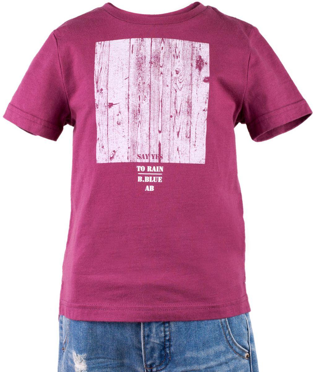 Футболка117BBBC12020300Брусничная футболка с крупным принтом - не только базовая вещь в гардеробе ребенка, но и основа модного летнего образа! Если вы решили купить недорогую футболку для мальчика, выберете футболку от Button Blue! Низкая цена изделия не окажет влияния на бюджет семьи, позволив создать интересный гардероб для долгожданных каникул! Высокое качество подарит удобство, комфорт и принесет удовольствие от покупки.