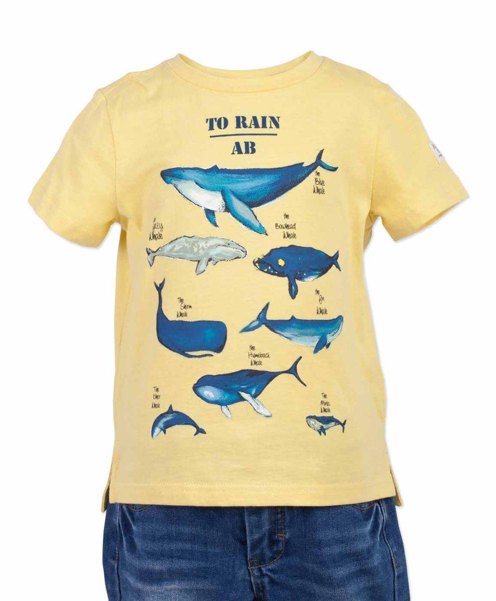 Футболка117BBBC12022700Желтая футболка - не только базовая вещь в гардеробе ребенка, но и залог хорошего летнего настроения! Если вы решили купить недорогую яркую футболку для мальчика, выберете модель футболки с оригинальным принтом, и ваш ребенок будет доволен! Низкая цена не окажет влияния на бюджет семьи, позволив создать интересный базовый гардероб для долгожданных каникул!