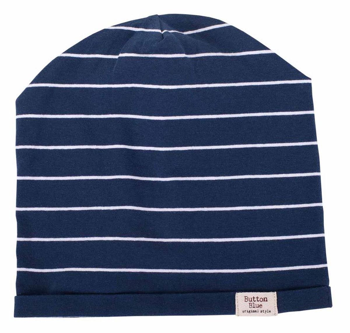 Шапка детская117BBBX73011005Трикотажные шапки - важный атрибут повседневного гардероба! Они отлично согревают, а также украшают и завершают весенний комплект. У них один недостаток: они часто теряются. Шапки забывают в парке, в школе, в детском саду, поэтому их в гардеробе должно быть много, а значит, шапки надо покупать по доступной цене. Купить недорого шапку для мальчика от Button Blue, значит, позаботиться о здоровье, внешнем виде и комфорте ребенка.