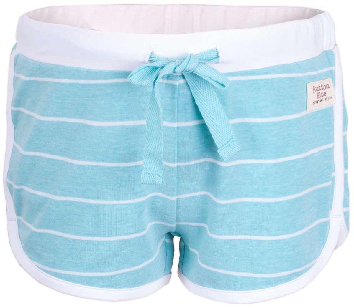Шорты117BBGC54012605Детские трикотажные шорты — образец комфорта! Полосатые шорты для девочки сделают любой летний комплект в спортивном стиле ярким и интересным. Если вы хотите купить недорого трикотажные шорты на каждый день, модель от Button Blue — то, что нужно.