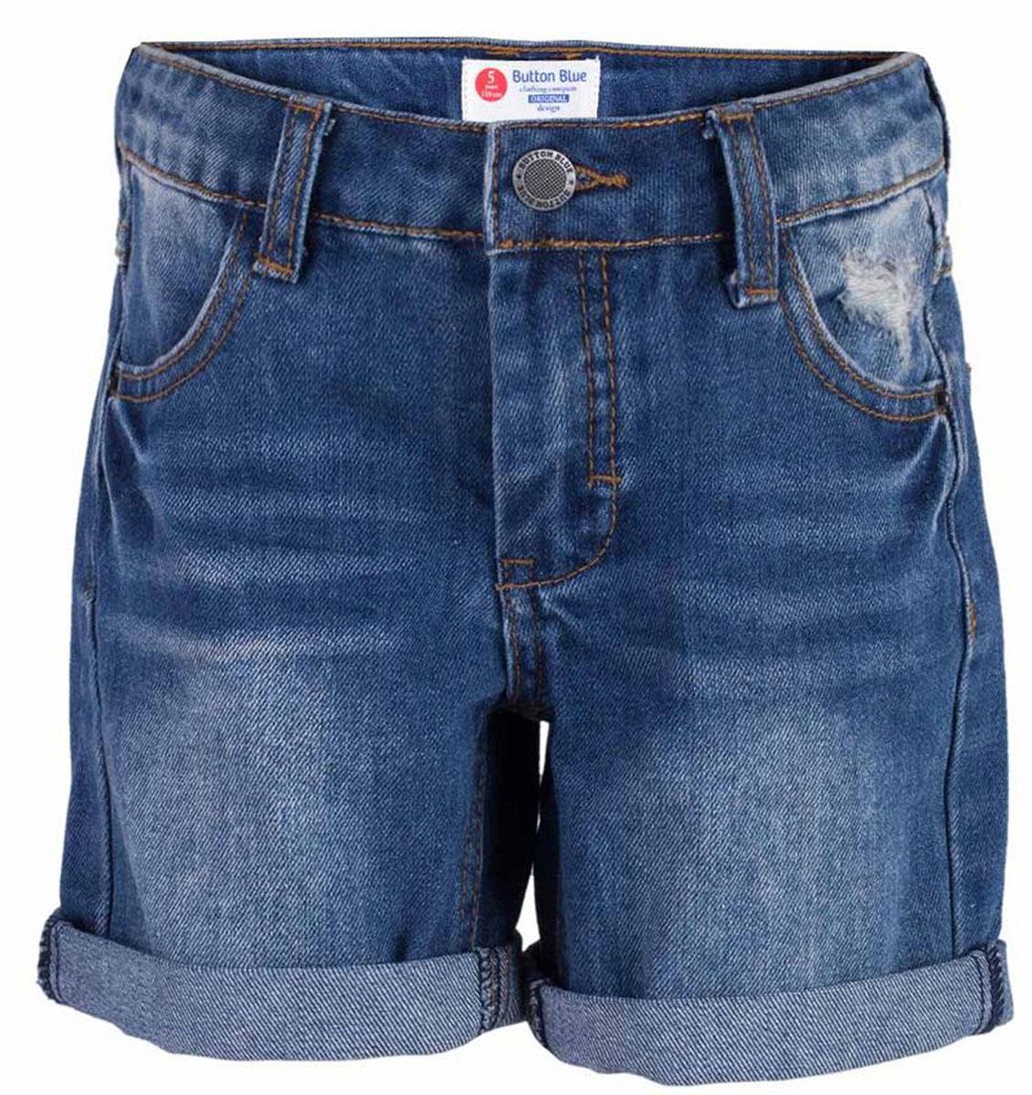 Шорты117BBBC6003D500Классные джинсовые шорты с потертостями, варкой и повреждениями - прекрасное решение на каждый день! И дома, и в лагере, и на спортивной площадке эти шорты для мальчика обеспечат комфорт и соответствие модным трендам. Купить недорого детские шорты от Button Blue , значит, сделать каждый летний день ребенка радостным и беззаботным!