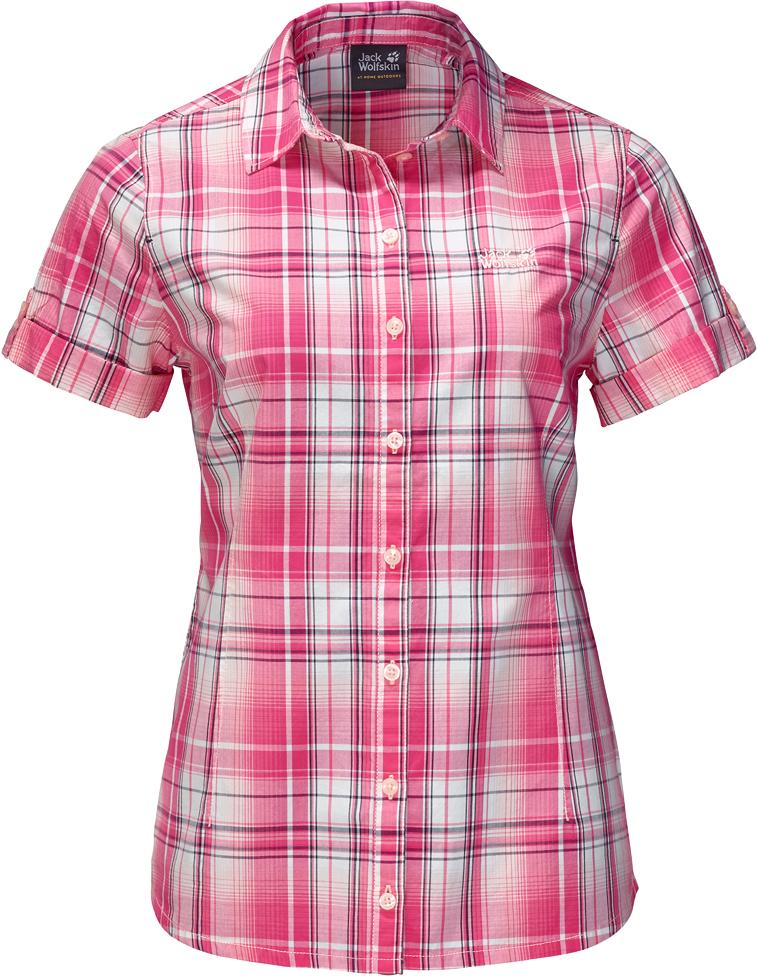 Рубашка1402411-7630Рубашка Maroni River Shirt W выполнена из 100% натурального хлопка. В ней вы будете чувствовать себя комфортно в жаркую погоду. Модель отлично вентилируется и дает ощущение прохлады. Рубашка застегивается на пуговицы, имеет отложной воротник и короткие стандартные рукава. Модель дополнена принтом в клетку и логотипом бренда. Такая рубашка идеально подходит для путешествий в жаркие страны и повседневной носки в летний сезон.