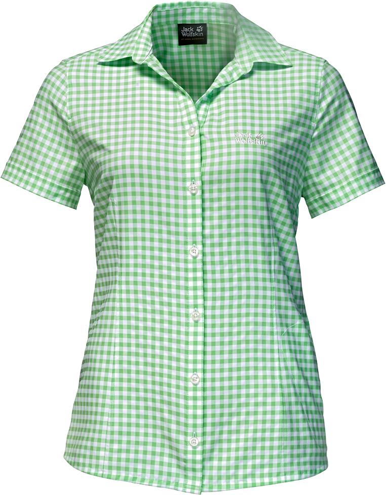 Рубашка1401723-7919Рубашка женская Kepler Shirt выполнена из 100% полиэстера. Ткань дышащая, легкая, приятная на ощупь и эластичная, она обладает высокой защитой от ультрафиолета (UPF 50+) и быстро сохнет. Рубашка застегивается на пуговицы, имеет отложной воротник и короткие стандартные рукава, а также секретный карман. Модель дополнена принтом в клетку и логотипом бренда. Такая рубашка идеально подходит для путешествий в жаркие страны и повседневной носки в летний сезон.