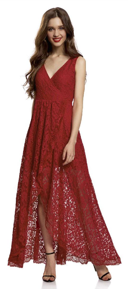 Платье11913029/46034/4500NПлатье длинное из кружева с асимметричным низом