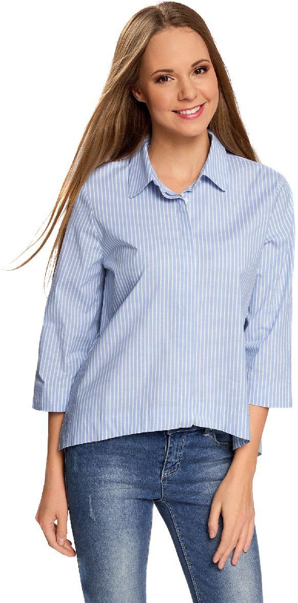 Блузка11411149/45387/7010SРубашка свободного силуэта с удлиненной спинкой