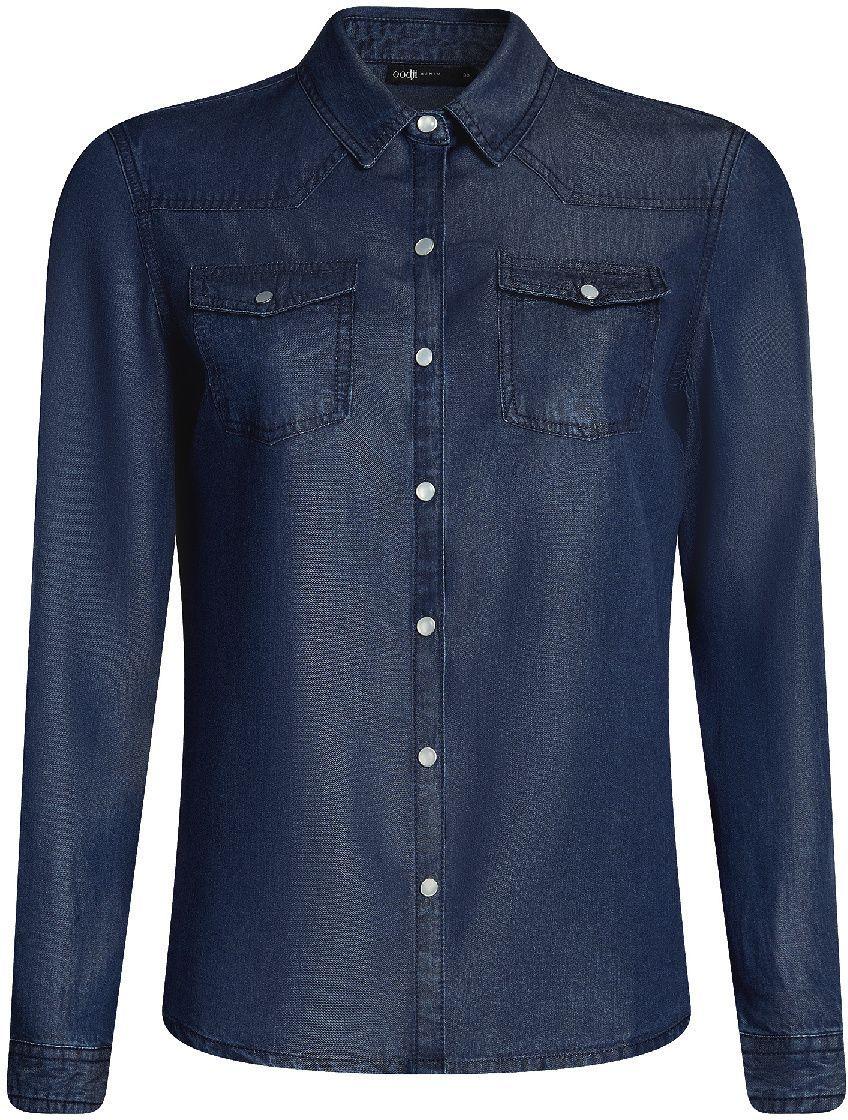 Блузка16A09005/45372/7900WРубашка на кнопках с нагрудными карманами