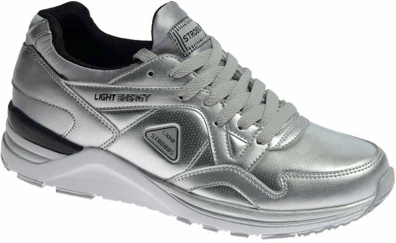 КроссовкиF6548-26Стильные женские кроссовки Strobbs отлично подойдут для активного отдыха и повседневной носки. Верх модели выполнен из искусственной кожи. Удобная шнуровка надежно фиксирует модель на стопе. Подошва обеспечивает легкость и естественную свободу движений. Мягкие и удобные, кроссовки превосходно подчеркнут ваш спортивный образ и подарят комфорт.