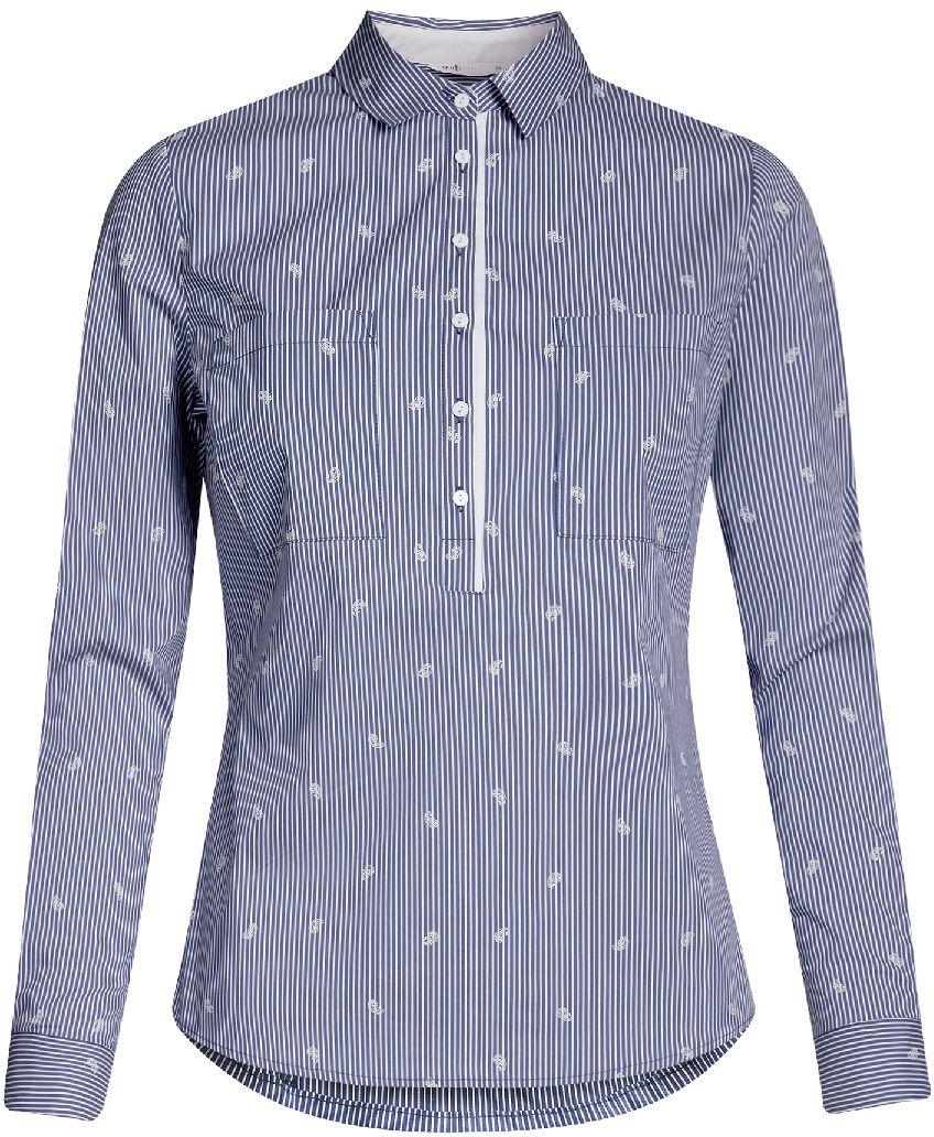 Блузка11403222-4/46440/4010SРубашка приталенная с нагрудными карманами