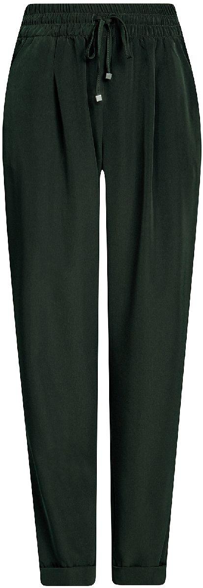 Брюки21705061-4/35184/6955EЖенские легкие брюки oodji Collection из струящейся ткани выполнены из высококачественного материала. Модель стандартной посадки в поясе дополнена эластичной резинкой и кулиской. Спереди брюки дополнены втачными карманами, сзади - прорезными.