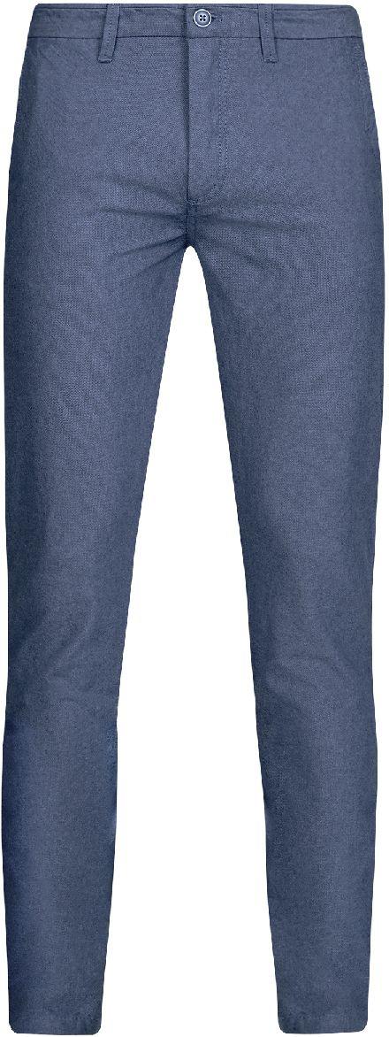 Брюки2L150095M/44310N/3733OМужские брюки oodji Lab выполнены из высококачественного материала. Модель-слим стандартной посадки застегивается на пуговицу в поясе и ширинку на застежке-молнии. Пояс имеет шлевки для ремня. Спереди брюки дополнены втачными карманами, сзади - прорезными на пуговицах.