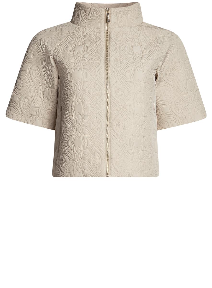 Куртка10207002-2/45366/3300NКуртка из фактурной ткани с короткими рукавами