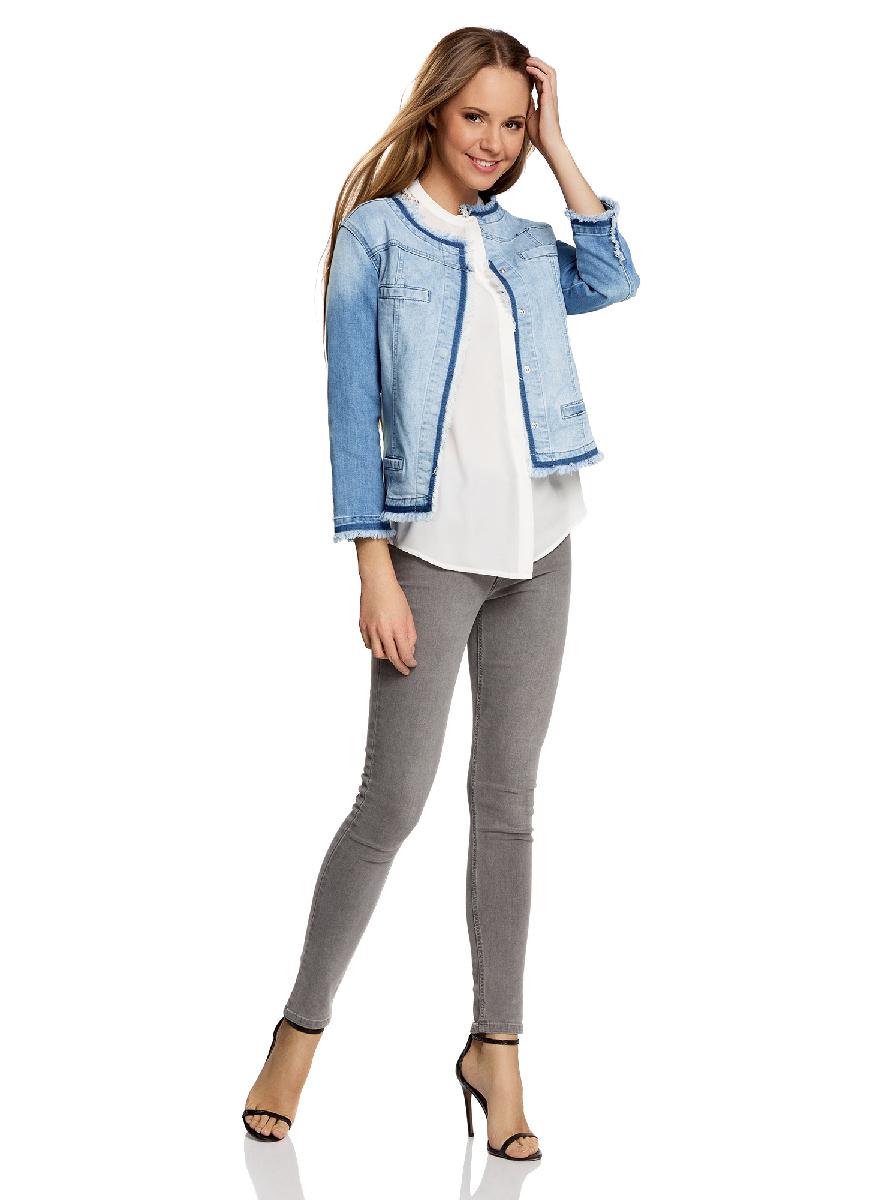 Жакет11109027/46734/7500WКуртка джинсовая на кнопках