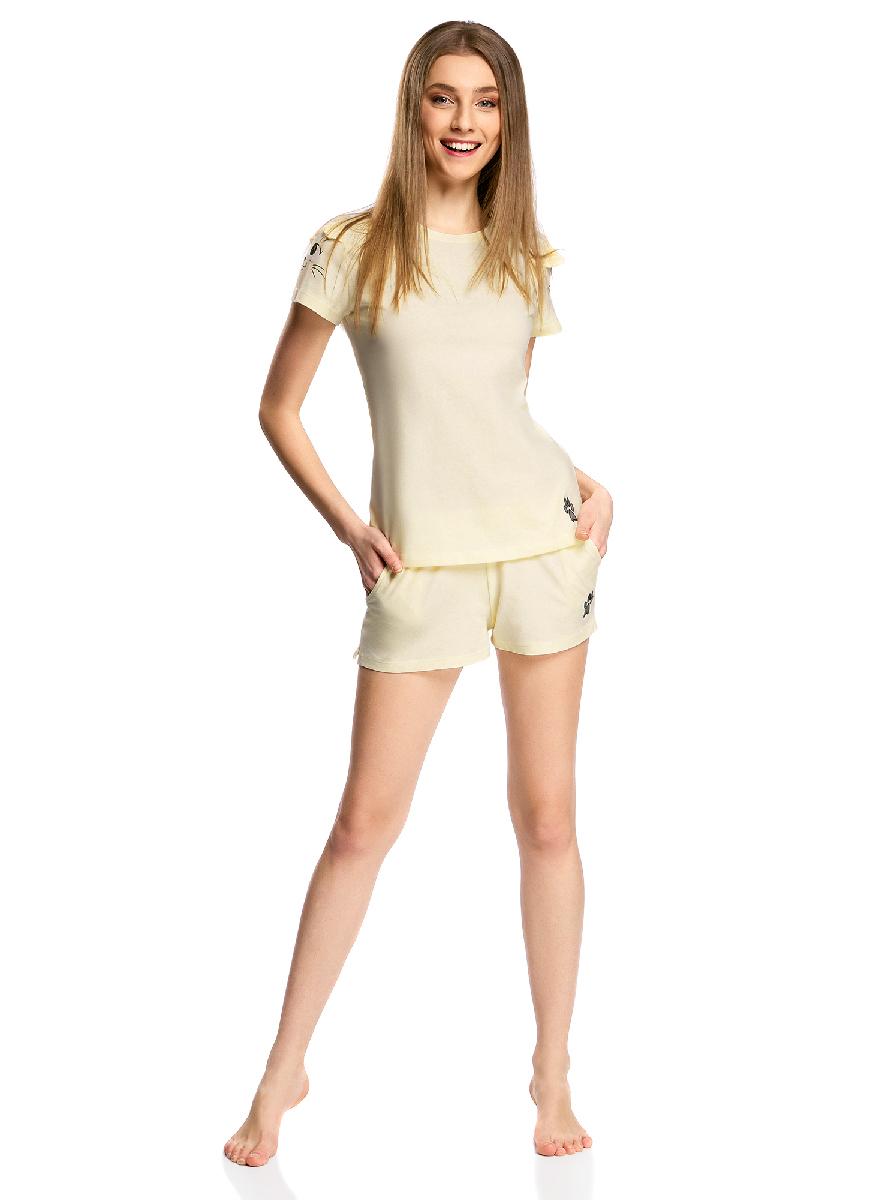 Пижама56002201/43771/4029PПижама хлопковая с принтом