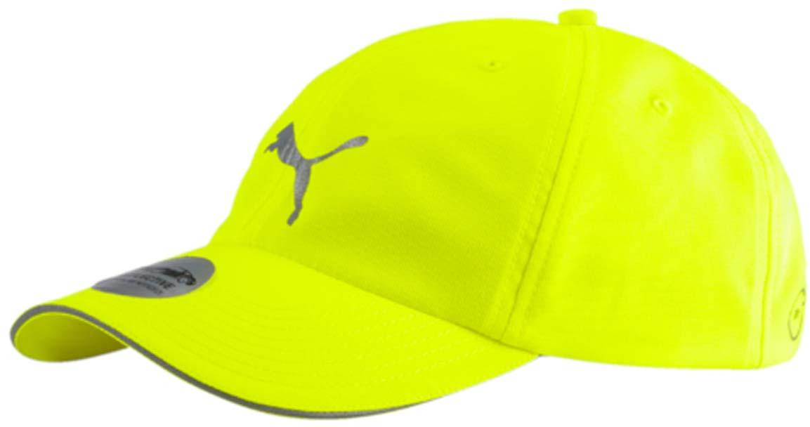 Бейсболка05291101Стильная бейсболка Puma Running Cap III идеально подойдет для прогулок, занятий спортом и отдыха. Она изготовлена с применением высокофункциональной технологии dryCELL, гарантирующей комфорт и сухость во время активных тренировок и занятий спортом. Бейсболка выполнена из 100% полиэстера, снабжена впитывающей внутренней отделкой и имеет плотный закругленный козырек. Она надежно защитит вас от солнца и ветра. Модель дополнена специальными отверстиями, обеспечивающими необходимую вентиляцию. Бейсболка оформлена светоотражающим логотипом Puma спереди и светоотражающей полоской на козырьке. Объем бейсболки регулируется при помощи хлястиков с липучками. Такая бейсболка станет отличным аксессуаром и дополнит ваш повседневный образ.