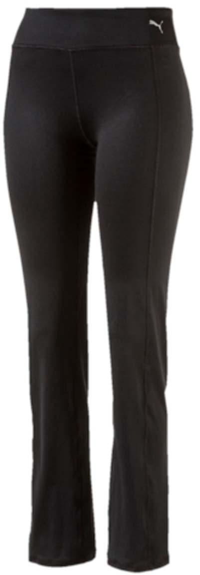 Брюки спортивные51514501Женские спортивные брюки Essential Straight Leg выполнены из полиэстера с добавлением эластана и с влагоотводящей пропиткой на основе биотехнологий. Модель имеет эластичный пояс, благодаря чему хорошо садится на талию. Внизу штанины расклешенные. Брюки на поясе декорированы логотипом PUMA.