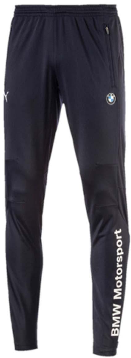 Брюки спортивные57278701Мужские спортивные брюки BMW MSP Track Pants созданы для тренировок на треке или для выходных дней, проведенных на диване за просмотром больших гонок. Брюки выполнены из 100% полиэстера. Среди отличительных особенностей изделия - эластичный пояс для удобной посадки, два боковых кармана на молнии. Застежки-молнии на шлицах по низу штанин позволяют легко снимать и надевать брюки. Брюки декорированы эмблемой BMW Motorsport внизу левой брючины, логотипом BMW на левом бедре и логотипом PUMA на правом бедре.