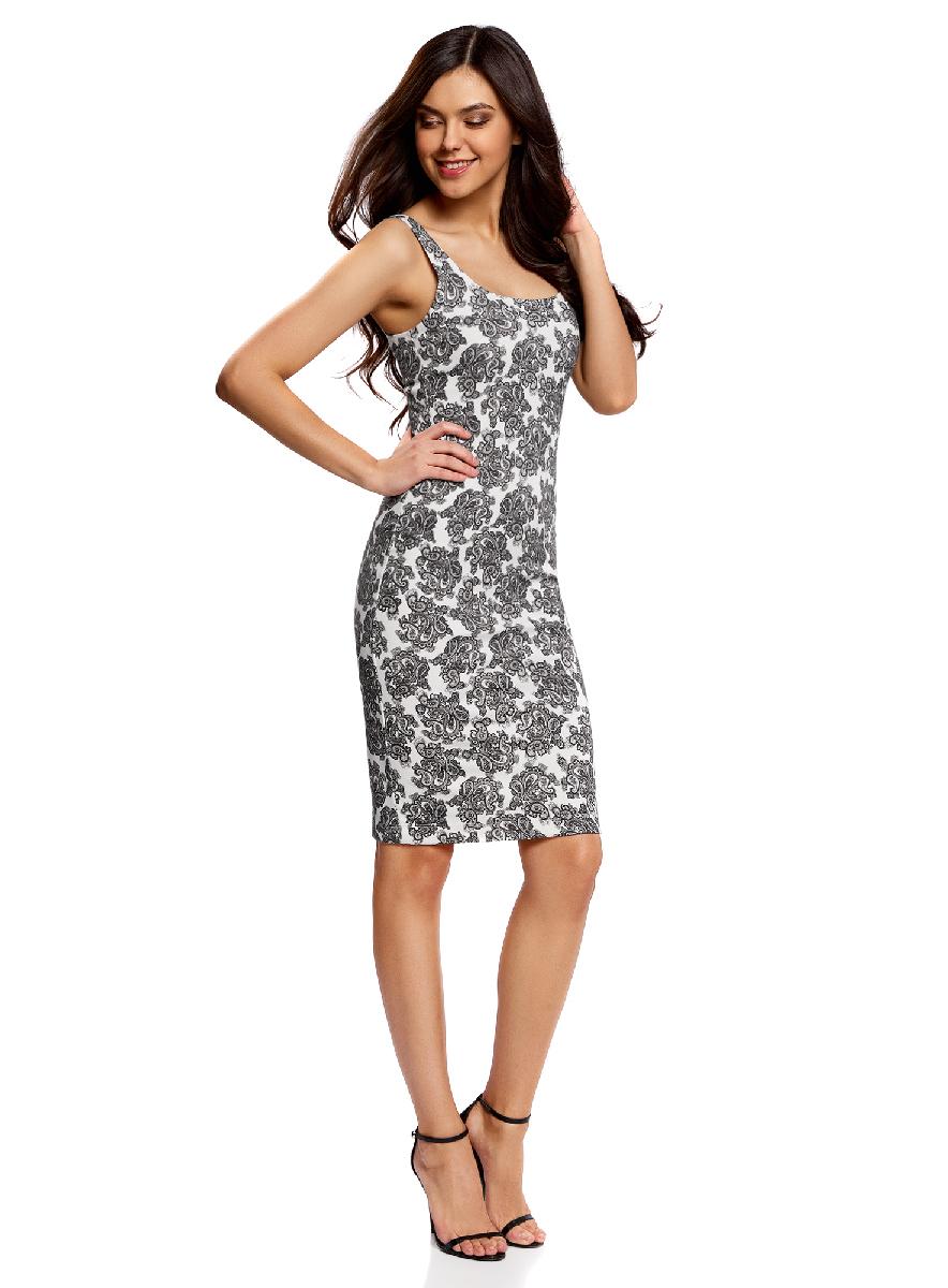 Платье14015007-3B/37809/1223EПлатье трикотажное на тонких бретелях