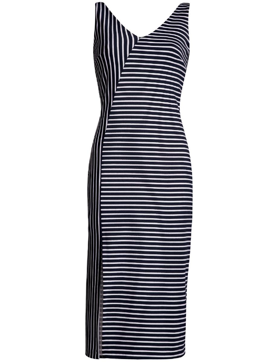 Платье14015014/37809/2075SПлатье асимметричного кроя с разрезом