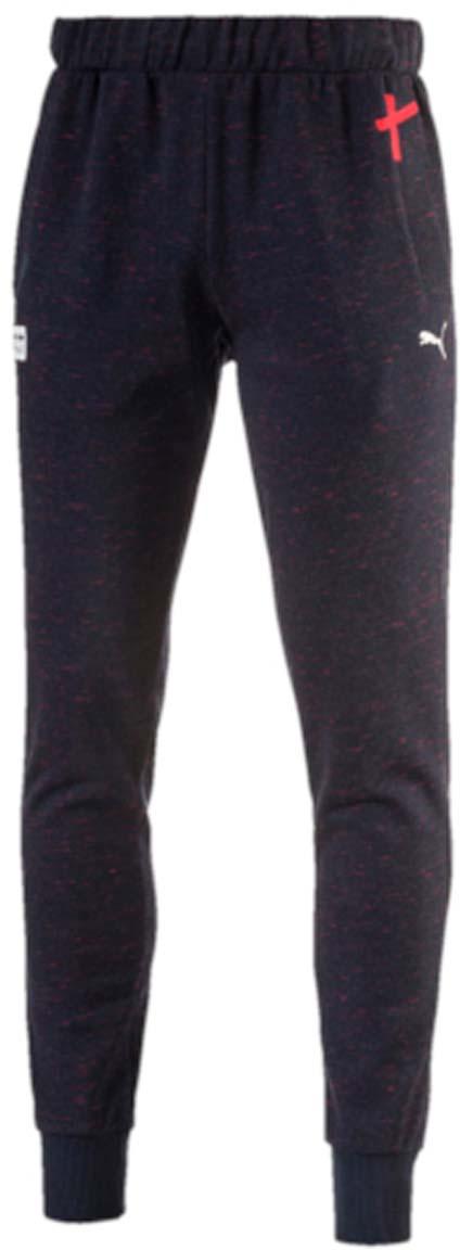 Брюки спортивные572748_01Стильные брюки RED BULL RACING Sweat Pants подойдут для тренировок и активного отдыха. Пояс брюк выполнен из эластичного материала. Широкие манжеты по низу брюк обеспечивают хорошее прилегание к ноге. В боковых карманах можно хранить необходимые мелочи. Изделие декорировано тканым ярлыком с эмблемой RBR и логотипом PUMA, нанесенным методом печати высокой плотности.