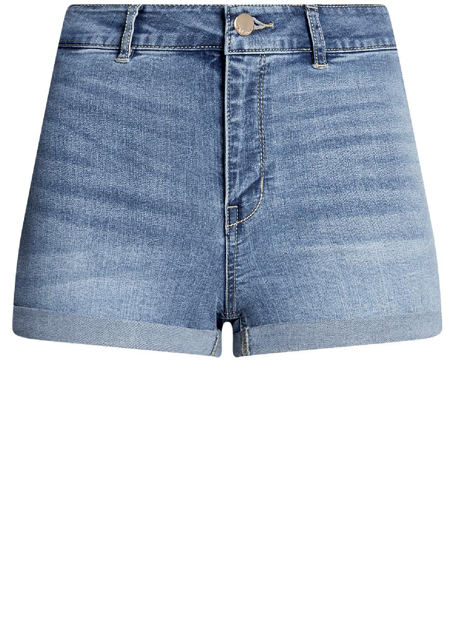 Шорты12807076-1B/45877/7500WШорты джинсовые базовые с высокой посадкой