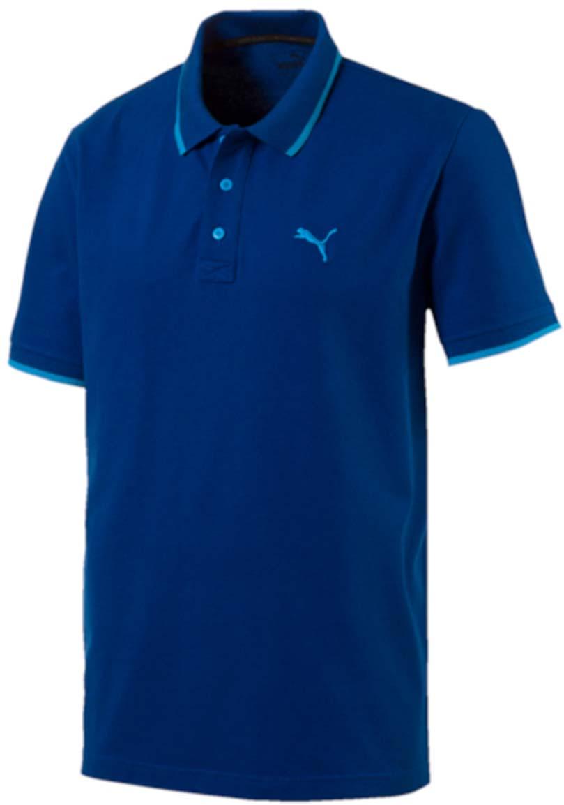 Поло838303_32Стильная мужская рубашка-поло Hero Polo выполнена из хлопка с добавлением эластана. Высокофункциональная технология dryCELL отводит влагу, поддерживает тело сухим и гарантирует максимальный комфорт. Модель декорирована вышитым логотипом PUMA. Среди других отличительных особенностей изделия - двухцветный отложной воротник с контрастной полосой, отделка тесьмой с фирменной символикой с внутренней стороны ворота и манжеты из эластичного трикотажа. Классический крой понравится ценителям простого и лаконичного стиля, а воротник добавит элегантности модели. Отличный вариант для повседневного образа.