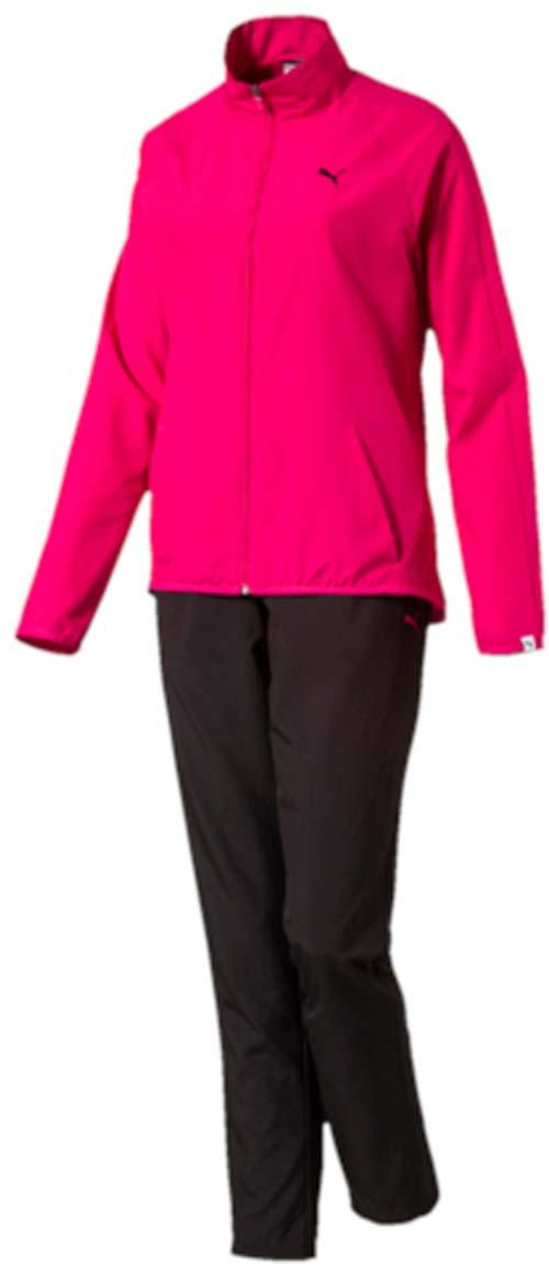 Спортивный костюм59091521Костюм спортивный женский Clean Woven Suit op W отлично подойдет для тренировок, он обеспечит свободу движений и комфорт во время занятий. Костюм выполнен из 100% полиэстера. Куртка застегивается на молнию, имеет воротник-стойку, длинные рукава и боковые карманы. Боковые швы с нахлестом вперед обеспечивают полную свободу движений. Вставки на плечах и рукавах дополняют фирменный покрой. Задний подол удлинен и закруглен. Пояс брюк из эластичного материала снабжен затягивающимся шнуром. Штанины заужены. Куртка и брюки декорированы вышитым логотипом PUMA.