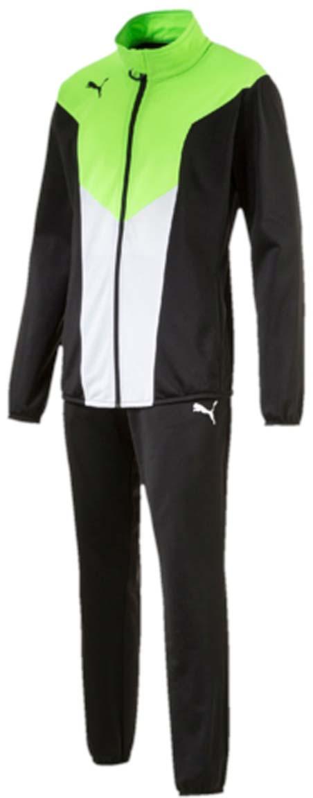 Спортивный костюм655202_14Костюм спортивный мужской ftblTRG Poly Tracksuit отлично подойдет для тренировок, он обеспечит свободу движений и комфорт во время занятий. Куртка и брюки имеют стандартную посадку и изготовлены с использованием высокофункциональной технологии dryCELL, которая отводит влагу, поддерживает тело сухим и гарантирует комфорт. Куртка застегивается на молнию, имеет воротник-стойку, длинные рукава и боковые карманы. Манжеты рукавов и низ куртки отделаны эластичным материалом. Брюки снабжены поясом из эластичного материала и боковыми прорезными карманами, низ штанин также отделан эластичным материалом. Куртка декорирована логотипом PUMA, на груди имеются контрастные вставки. Брюки также декорированы логотипом PUMA.