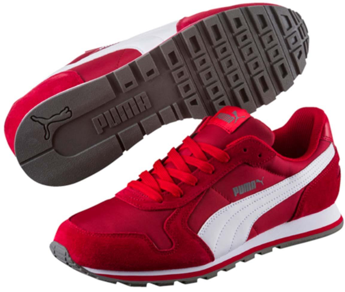 Кроссовки35673837Разработанные в лучших традициях PUMA, кроссовки серии ST Runner - идеальный вариант для прогулок и активного отдыха. Верхняя часть обуви из высококачественного нейлона с мягкими замшевыми вставками и накладками обеспечивает комфорт и прекрасную посадку по ноге. Модель ST Runner NL - это неповторимый дизайн, новое прочтение классической традиции и прекрасное дополнение к стильному повседневному гардеробу.