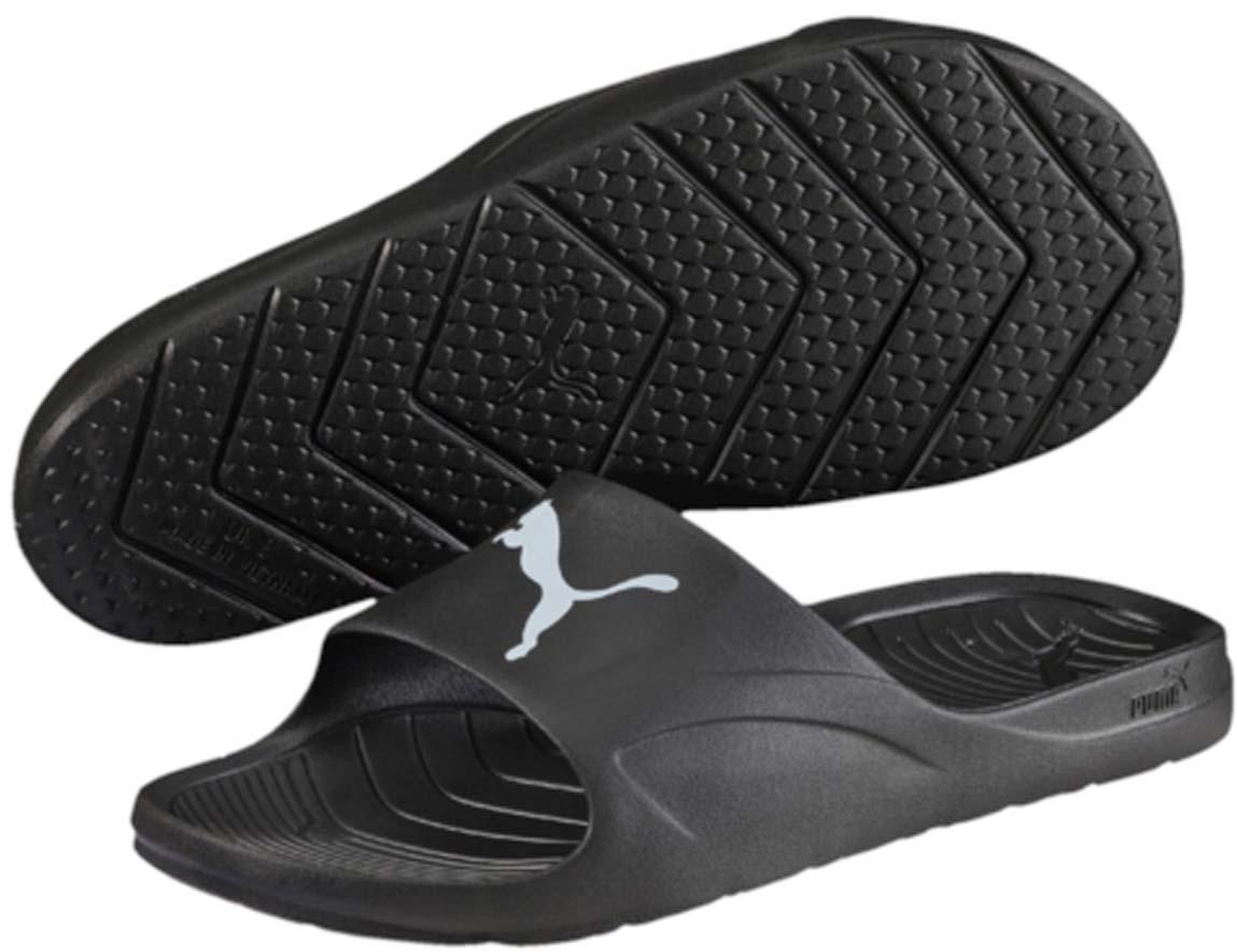 Шлепанцы36027402Цельнолитые шлепанцы Puma Divecat изготовлены из очень легкого материала, а мягкая подошва, повторяющая очертания стопы поможет вам расслабиться и дать отдых усталым ногам после захватывающего матча или активной тренировки! Износоустойчивый материал, из которого изготовлены шлепанцы Divecat, обладает отличным сцеплением с поверхностью. Легкие и удобные сланцы Divecat, выполненные в пляжном стиле - замечательный выбор для теплых месяцев. Носите их с шортами, брюками или джинсами, они идеально подходят к любому гардеробу. Легкая и удобная обувь - это именно то, что нужно для отличного отдыха. Не бойтесь поскользнуться ни у бассейна, ни в душе, когда на вас Divecat!