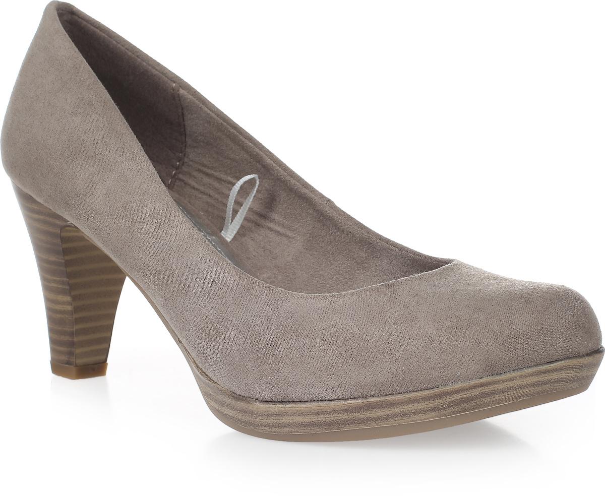 Туфли2-2-22411-35-001Элегантные женские туфли от Marco Tozzi займут достойное место в вашем гардеробе. Модель выполнена из высококачественного текстиля и исполнена в лаконичном стиле. Закругленный носок добавит женственности в ваш образ. Мягкая стелька - из искусственной кожи и подкладка - из текстиля, обеспечивают максимальный комфорт при движении. Высокий каблук устойчив. Подошва с рифлением защищает изделие от скольжения. Изысканные туфли добавят шика в модный образ и подчеркнут ваш безупречный вкус.