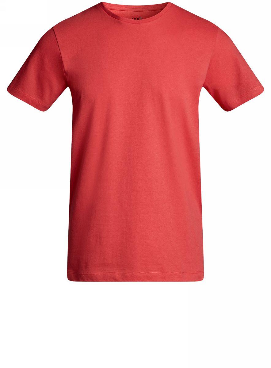 Футболка5B611003M/44135N/7000NКомфортная мужская футболка от oodji с короткими рукавами и круглым вырезом горловины выполнена из натурального хлопка.