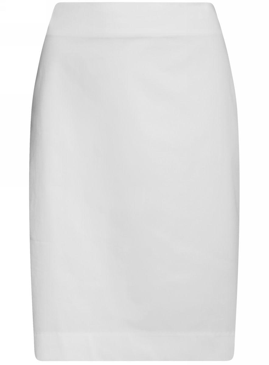 Юбка21608006-4B/42307/6500NСтильная юбка-карандаш выполнена из эластичного хлопка. Сзади модель застегивается на потайную застежку-молнию и дополнена разрезом.