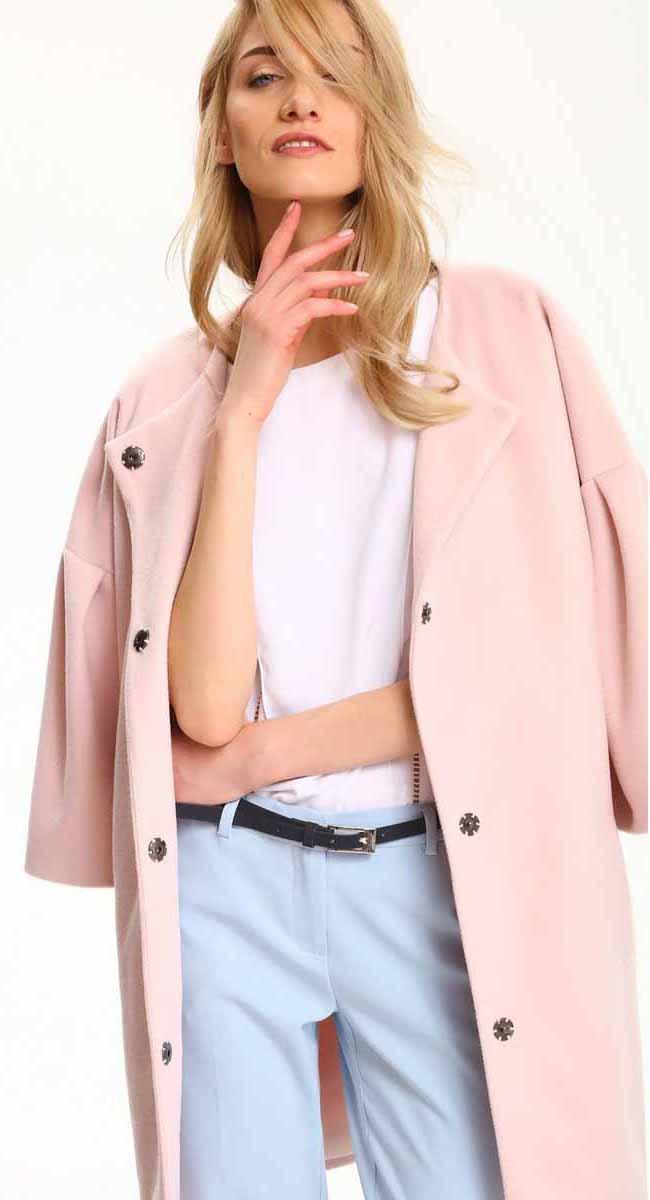ПальтоSPZ0389JRЖенское пальто Top Secret выполнено из полиэстера. Модель с круглым вырезом горловины застегивается кнопки.