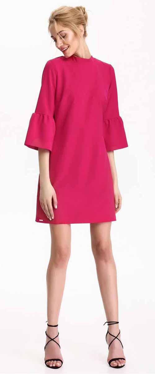 ПлатьеSSU1871CRПлатье Top Secret выполнено из полиэстера. Модель с круглым вырезом горловины и рукавами 3/4.
