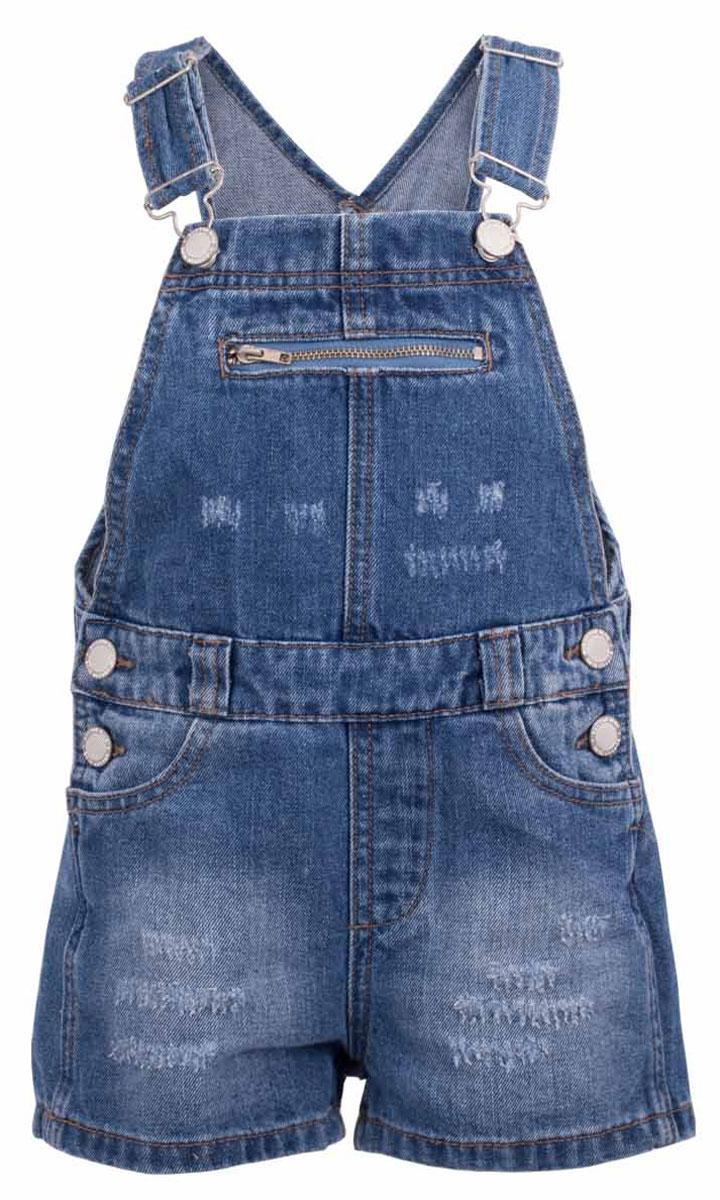Джинсы117BBUC6701D200Детский джинсовый полукомбинезон - не только очень удобная модель летнего гардероба, но и трендовая вещь сезона Весна/Лето 2017! В компании с любой майкой, футболкой, поло полукомбинезон составит достойный летний комплект. Если вы хотите купить недорого джинсовый полукомбинезон с модными потертостями, заминами, варкой, не сомневаясь в его качестве, высоких потребительских свойствах и соответствии модным трендам, полукомбинезон от Button Blue - лучший вариант!