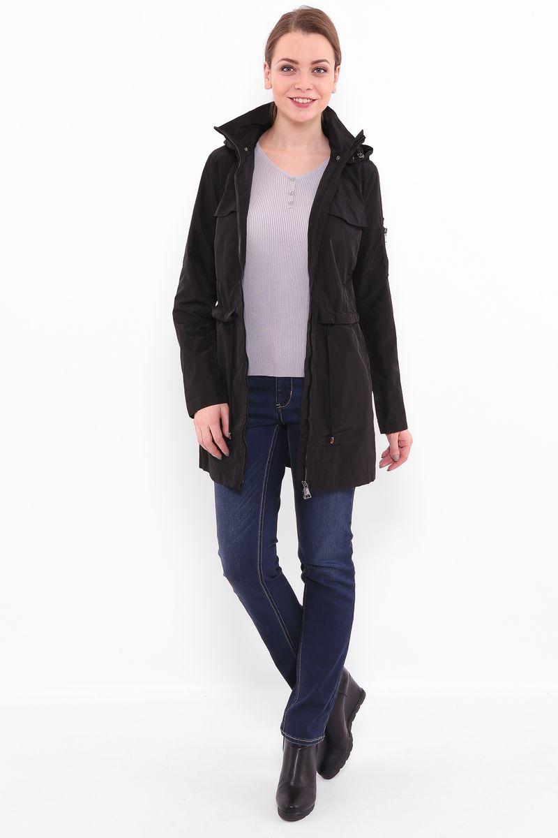 КурткаB17-12080Куртка женская Finn Flare выполнена из полиэстера. Модель с воротником- стойкой и длинными рукавами застегивается на застежку-молнию.