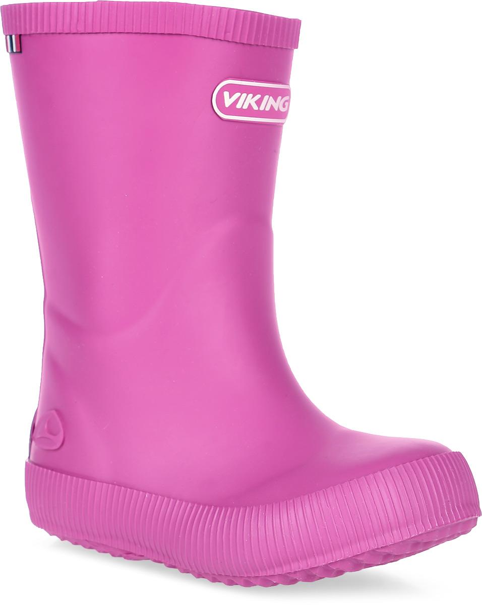 Резиновые сапоги1-13200-00017Модные резиновые сапоги от Viking - идеальная обувь в дождливую погоду для вашей девочки. Модель лаконичного дизайна оформлена эмблемой с названием бренда. Внутренняя поверхность и стелька, выполненные из синтетического материала со скрученными волокнами, способствующими поддержанию тепла, комфортны при ходьбе. Подошва с протектором гарантирует отличное сцепление с любой поверхностью. Резиновые сапоги - необходимая вещь в гардеробе каждого ребенка.