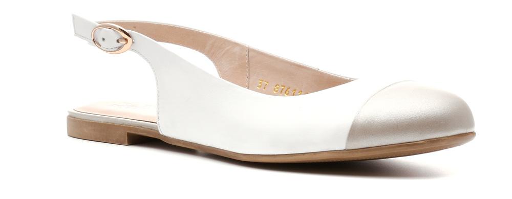 Балетки876111БПБалетки Аvа линии Modern без задника и подчеркнутым носком выглядят стильно и женственно. Тоненький ремешок за пяткой с изящной металлической застежкой подчеркивает женственность. Кожаные верх, подкладка и стелька, тонкая невесомая ТЭП подошва делают туфли необыкновенно удобными и придают им особый шик.