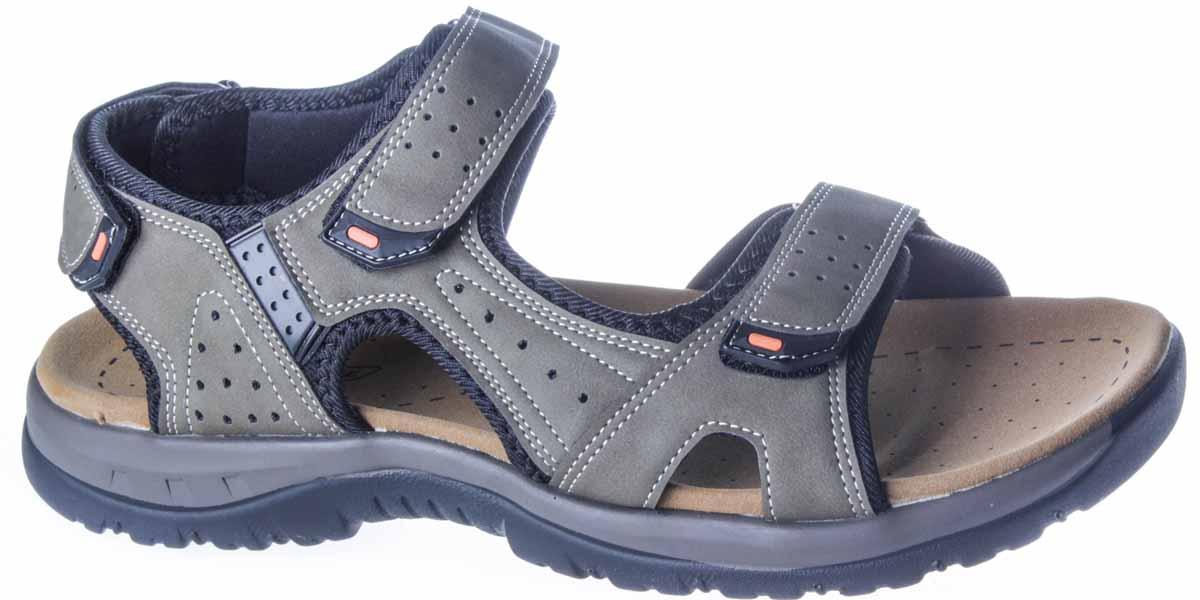 Сандалии435-704T-17s-04-7Модные мужские сандалии от бренда Patrol придутся вам по душе. Верх модели, выполненный из искусственного нубука, оформлен декоративной контрастной прострочкой, тесьмой и перфорацией. Ремешки с застежками-липучками надежно зафиксируют модель на ноге. Подкладка из текстильного материала комфортна при движении. Подошва исполнена из полуретана. Рифленое основание подошвы гарантирует идеальное сцепление с любой поверхностью. Такие сандалии принесут комфорт и уют вашим ногам.