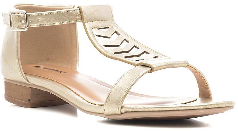 Босоножки1152-84Стильные босоножки от Nobbaro займут достойное место среди вашей коллекции летней обуви. Модель выполнена из искусственной кожи и оформлена на подъеме ремешком с крупной перфорацией. Закрытый задник и ремешок с металлической пряжкой отвечают за надежную фиксацию модели на ноге. Длина ремешка регулируется за счет болта. Стелька из искусственной кожи гарантирует комфорт при ходьбе. Рифление на каблуке и на подошве защищает изделие от скольжения. Прелестные босоножки очаруют вас своим дизайном с первого взгляда.