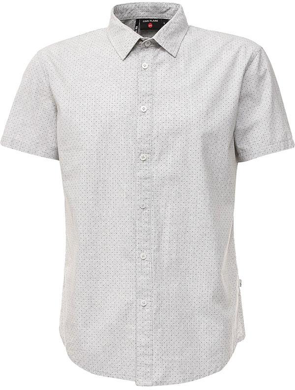 РубашкаS17-42011_211Рубашка мужская Finn Flare выполнена из натурального хлопка. Модель с отложным воротником и короткими рукавами застегивается на пуговицы.