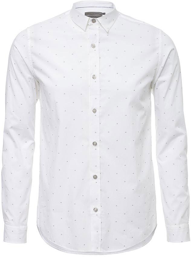 РубашкаJ30J304608Рубашка Calvin Klein Jeans выполнена из натурального хлопка с добавлением эластана. Модель с отложным воротником и стандартным длинным рукавом оформлена фирменным принтом. Рубашка застегивается с помощью пуговиц.