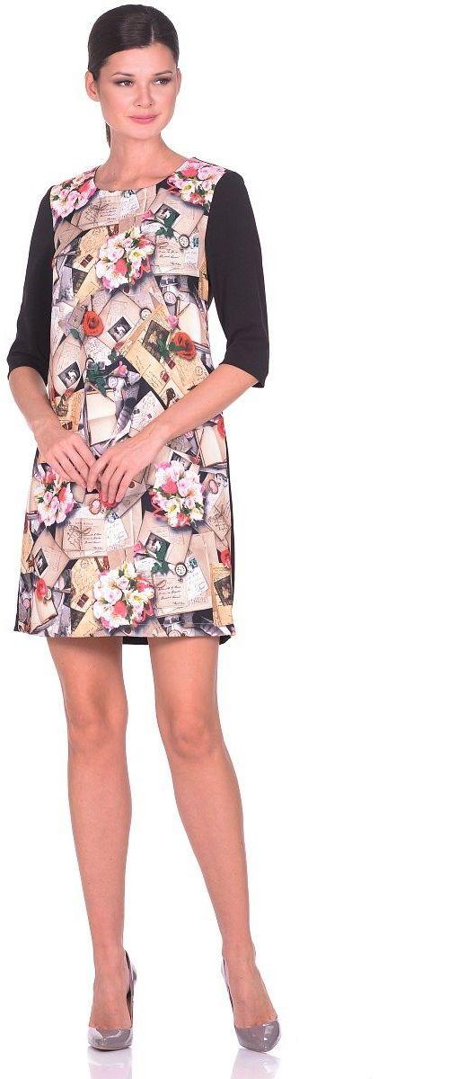 ПлатьеWD-2616FТрикотажное платье А-образного силуэта, рукава втачные, длиной 3/4.