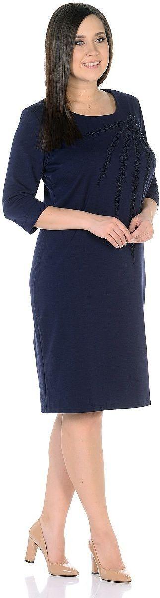 ПлатьеWD-2703CПлатье полуприлегающего силуэта, круглый вырез горловины, рукава длиной 3/4.