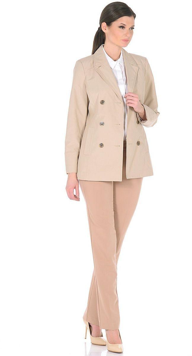 КурткаWJ-1626VДвубортная куртка-жакет, с классическим английским воротником и застежкой на 6 пуговиц. В бочках переда обработаны карманы с листочками.